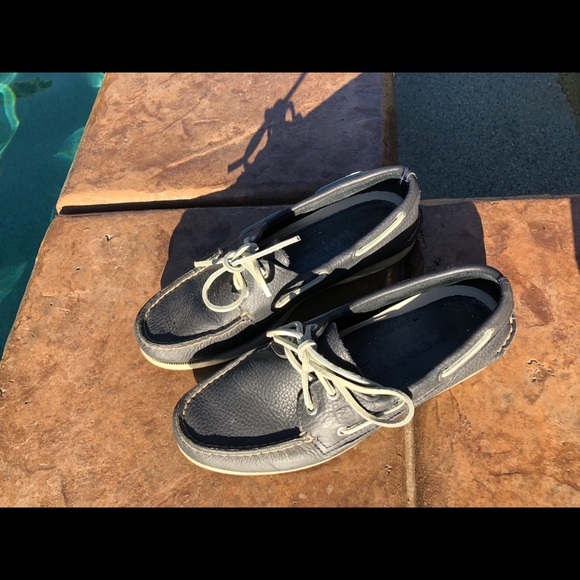Sperry Shoes | Navy Blue Leather